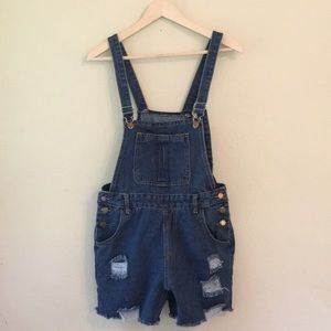 Wrangler Denim Overall Shorts